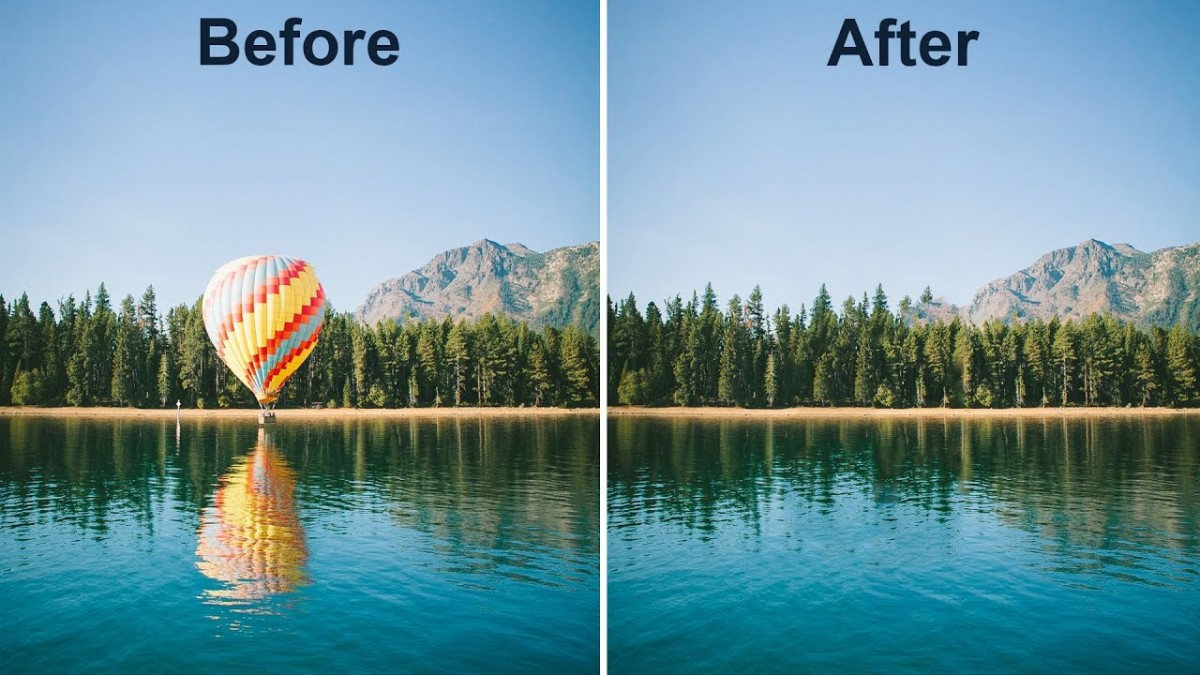 Content-Aware fill giúp bạn xóa hình ở diện rộng một cách dễ dàng