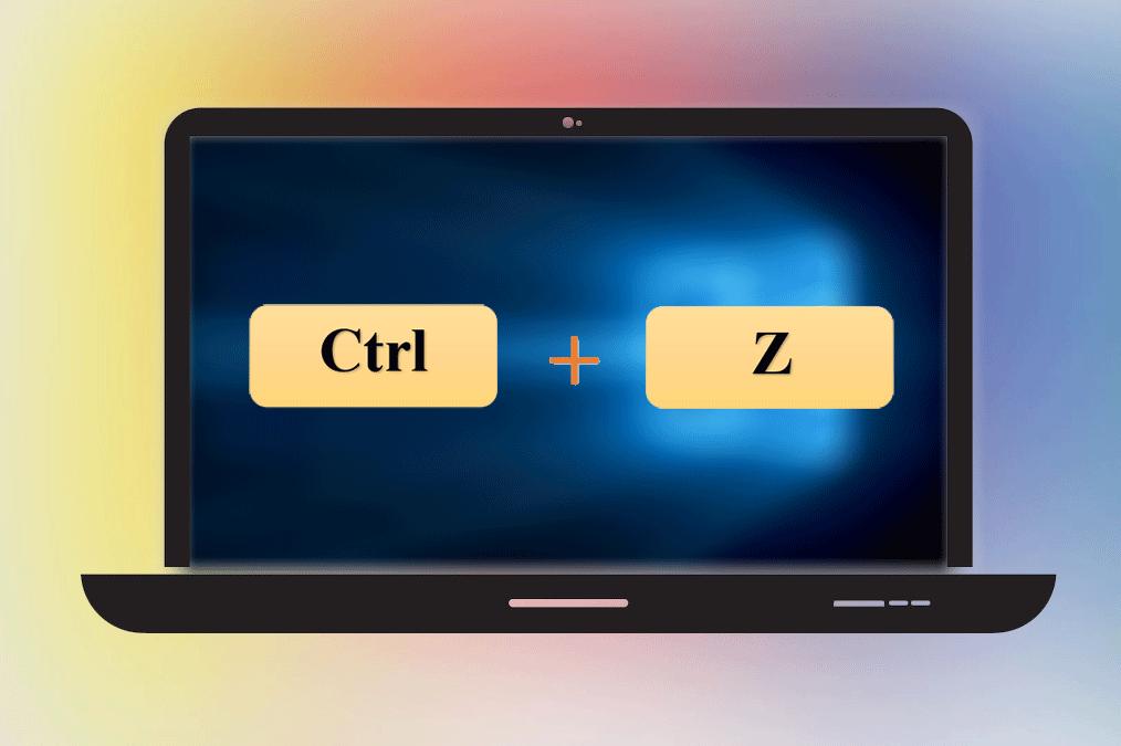 Nhấn tổ hợp ctrl + z để thực hiện chức năng hoàn tác