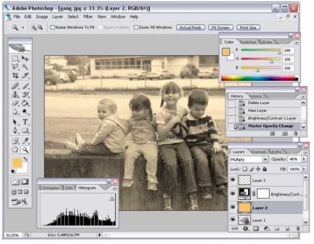 Phục chế ảnh cũ nhờ vào phần mềm Photoshop CS2