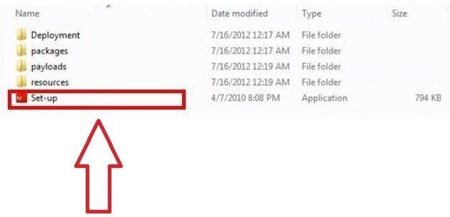 """Chọn """"Setup"""" để bắt đầu quá trình cài đặt phần mềm"""