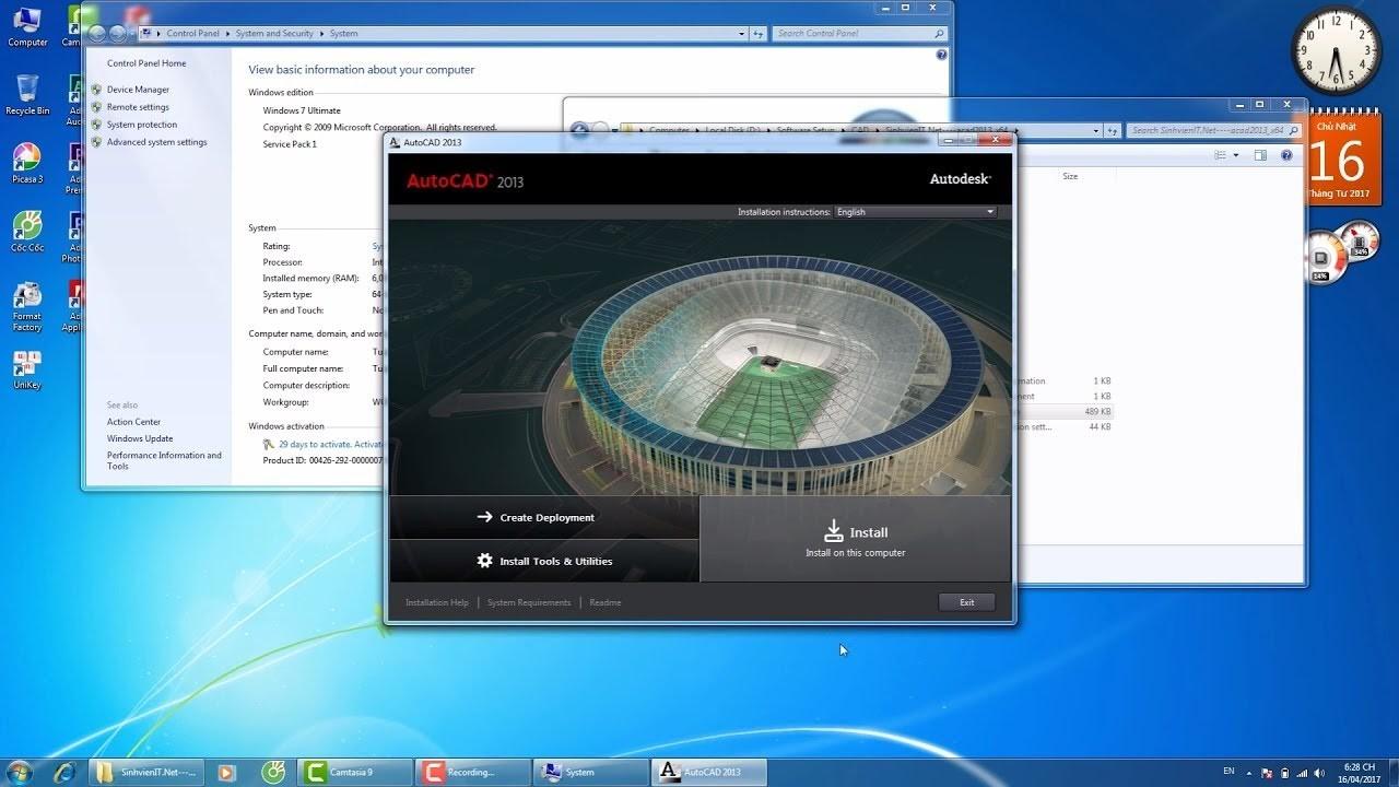 Cài đặt phần mềm Autocad phiên bản 2013 chi tiết