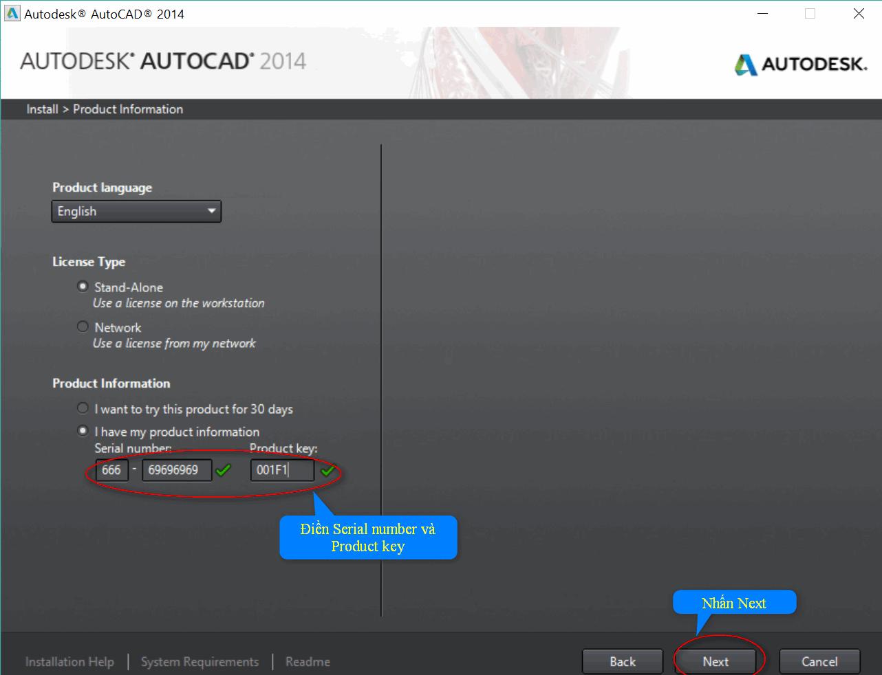 Các bước cài đặt phần mềm AutoCad 2014