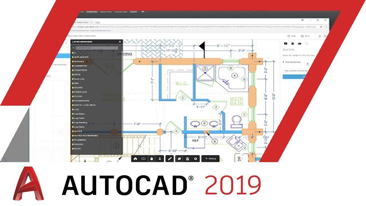 Chức năng share views của Autocad 2019 giúp chia sẻ thiết kế bản vẽ của bạn đến những người khác