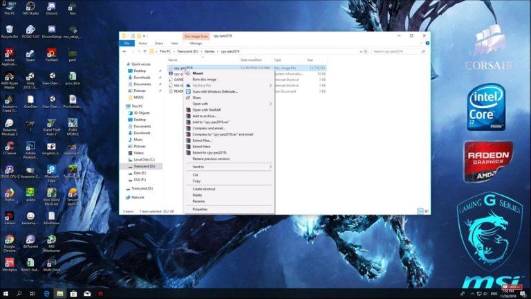 Mở file sau khi đã tải thành công game về máy